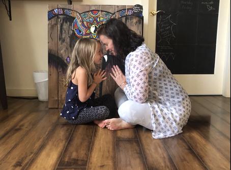Yoga with grandchildren inspiration