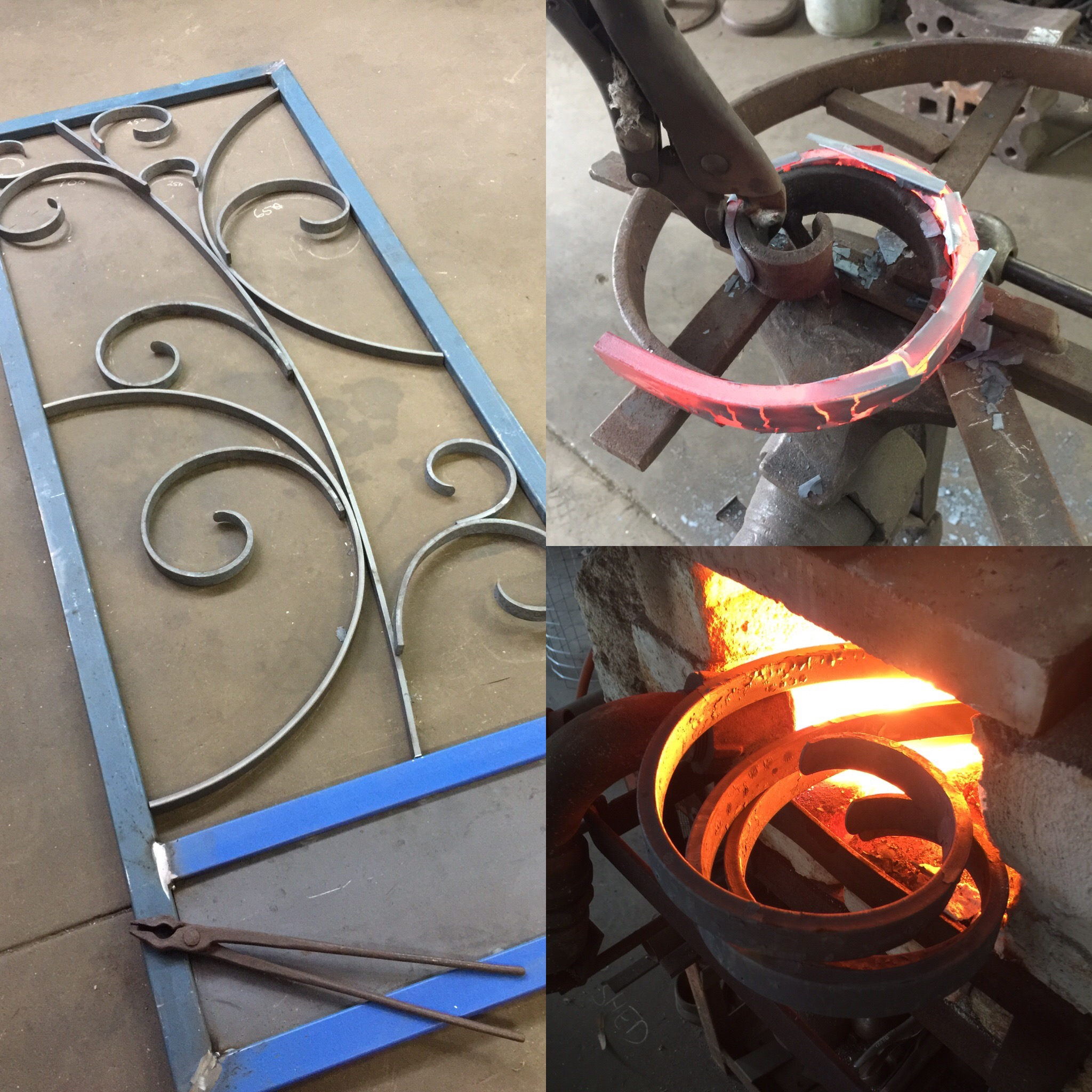 hot scroll work for security door