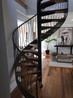 Spiral staircase with balustrade