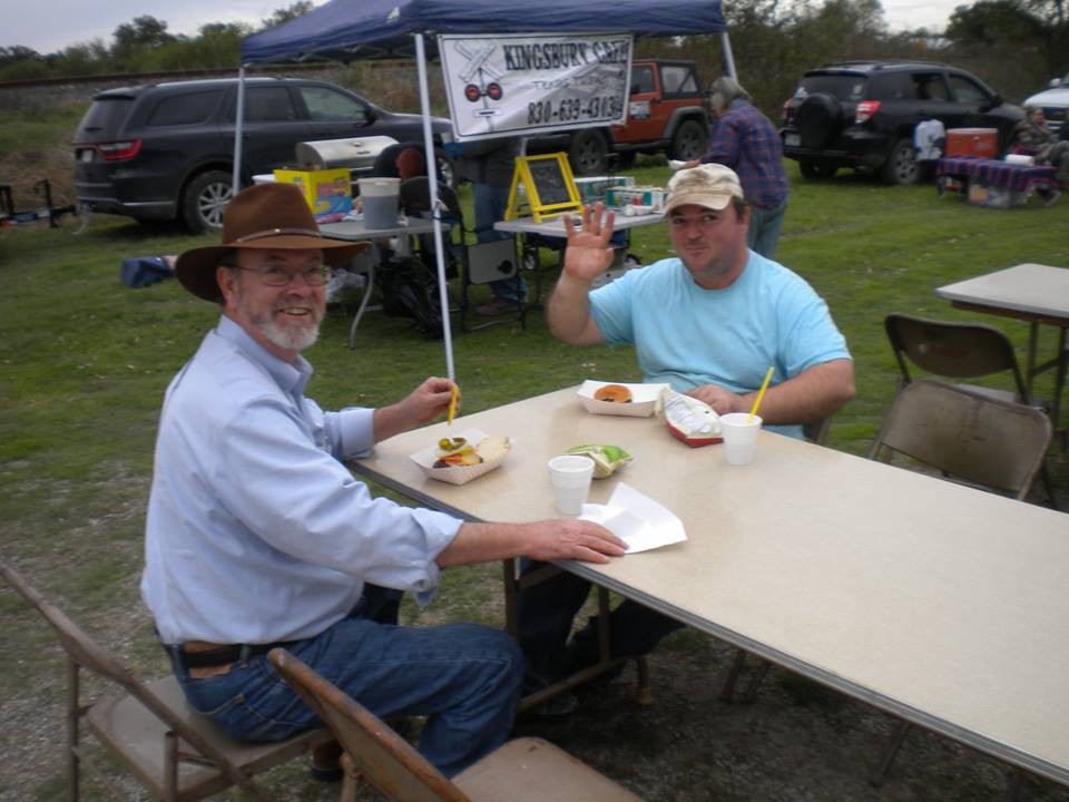 Sam and Jeremy Drugan enjoying some food at the Festival.