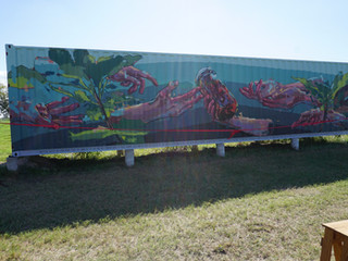 Mural Unveiling and Ribbon Cutting