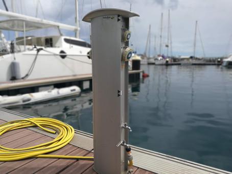 Galatea remporte l'appel d'offre pour fournir les bornes de la marina de Papeete