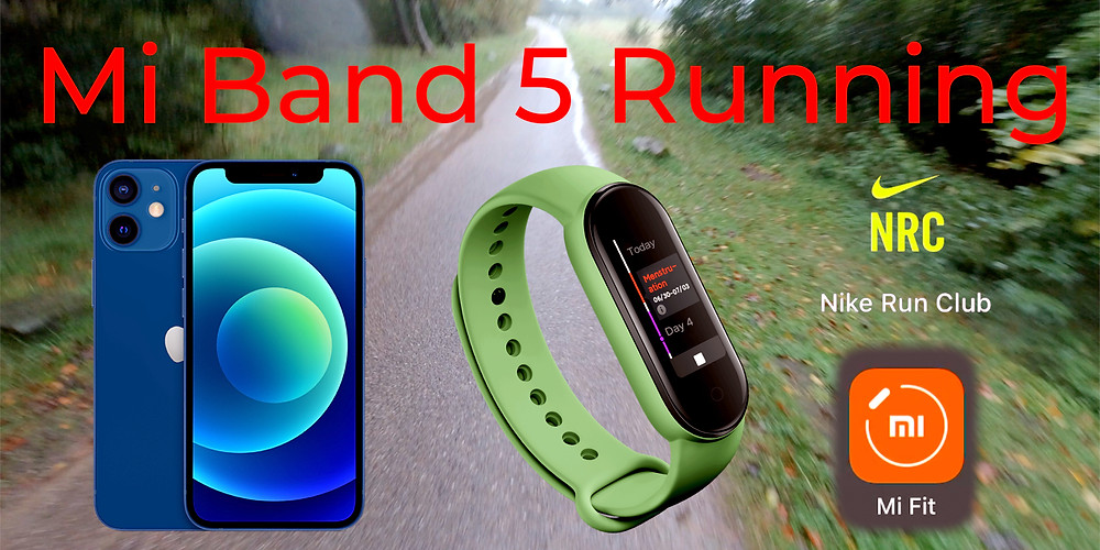 YouTube video of running with the Mi Band 5 with an iPhone