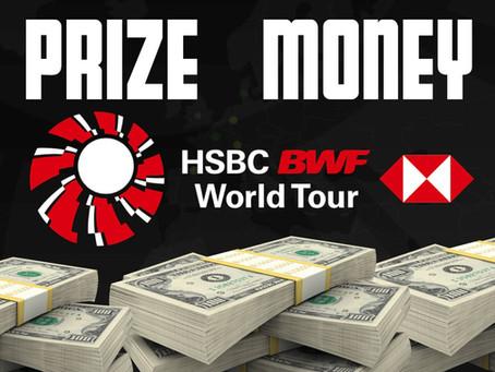 HSBC BWF World Tour 2021 Prize Money