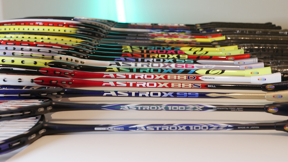 Yonex Astrox badminton racket; Yonex Nanoflare badminton racket; yonex badminton racket; yonex duora racket