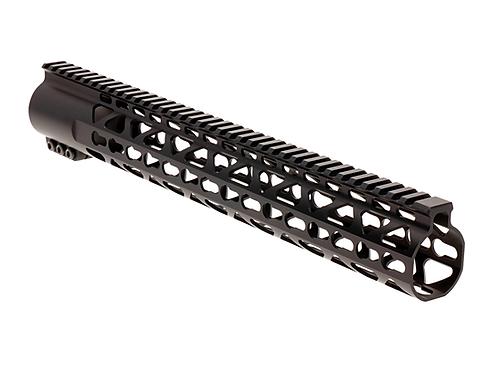 "NA-HG223-15KMHR, Handguard, 15"", KeyMod, free float, high rise, aluminium nut"