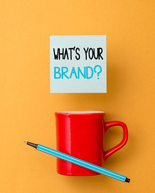 Writing note showing What S Your Brand Q