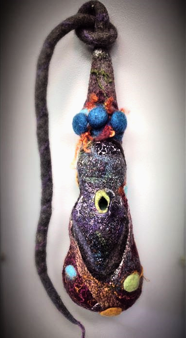 wet felted birdhouse