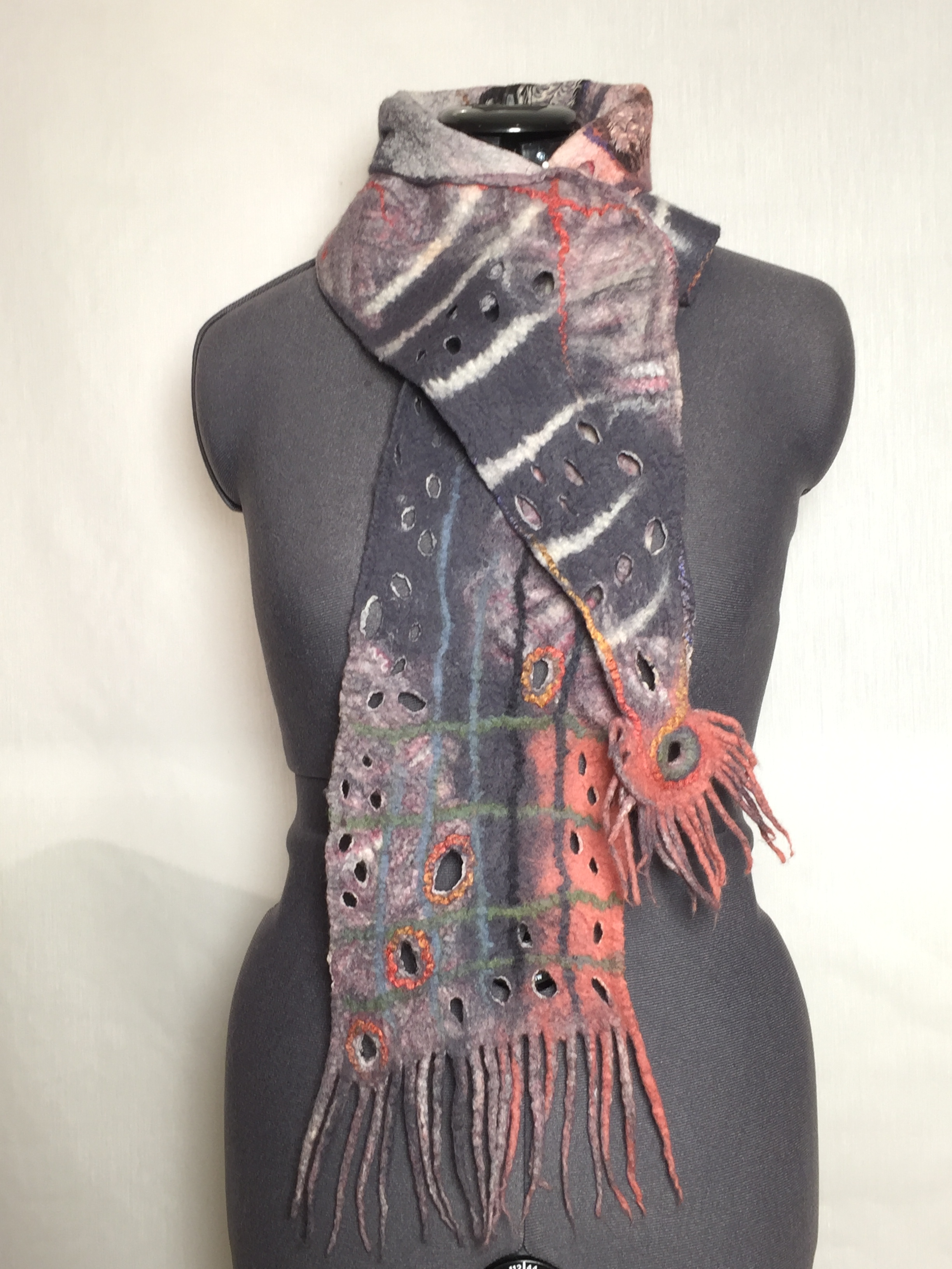 reversible felted scarf
