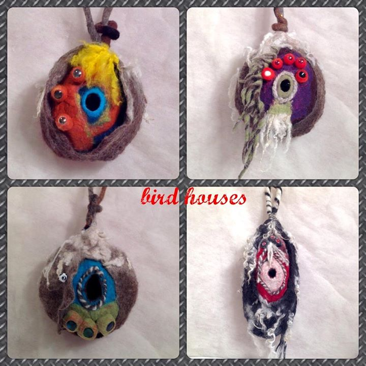 felted birdhouse designs
