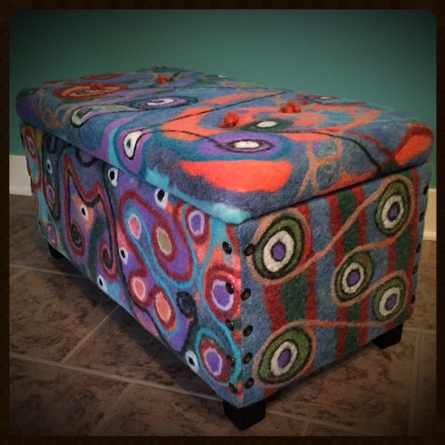 felted upholstered chest