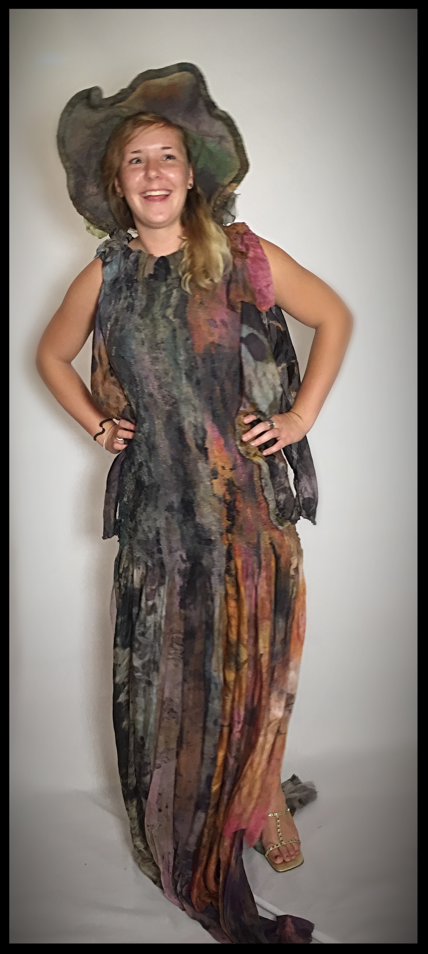 Ecoprinted Dress - 004