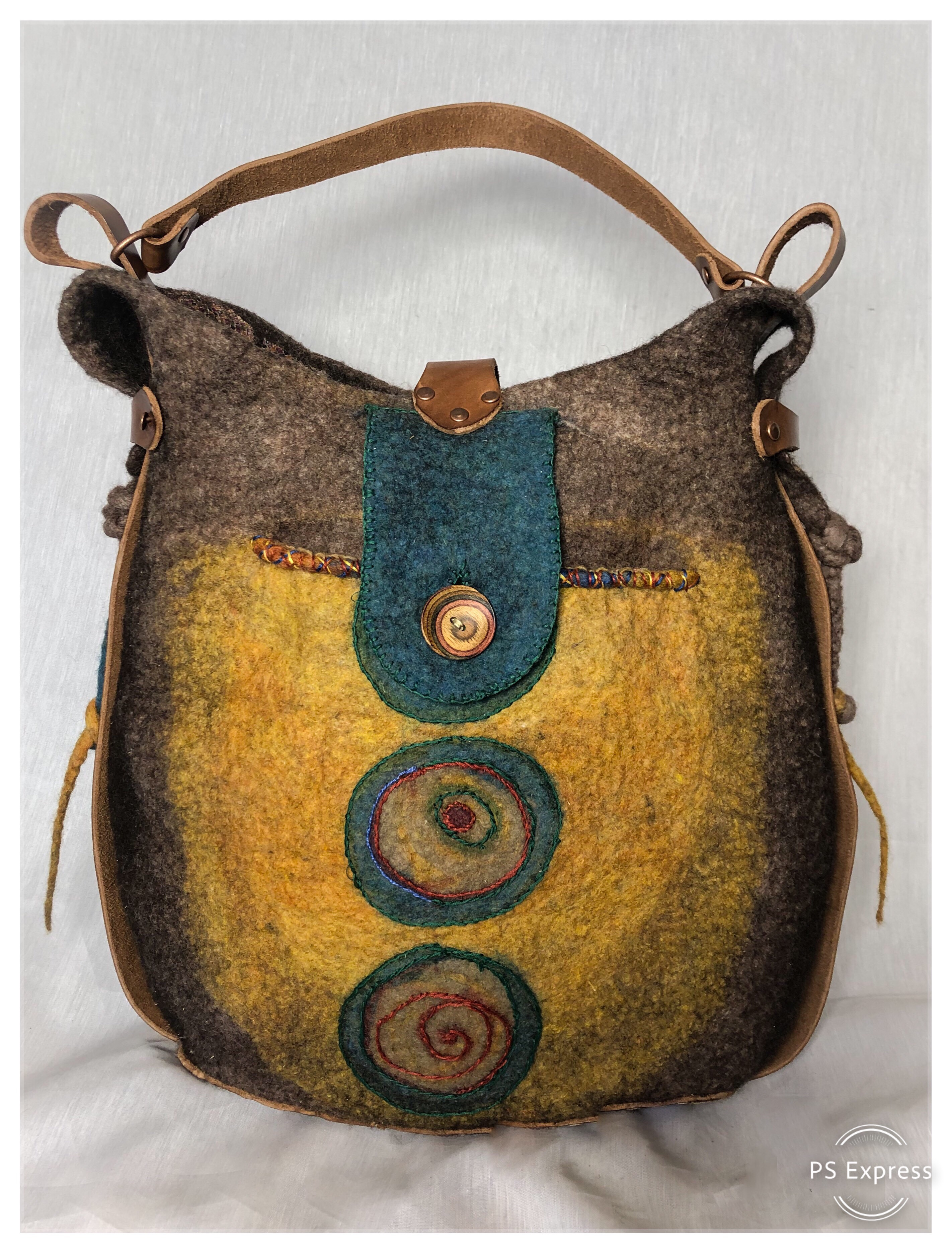 Wet felted Traveler Bag