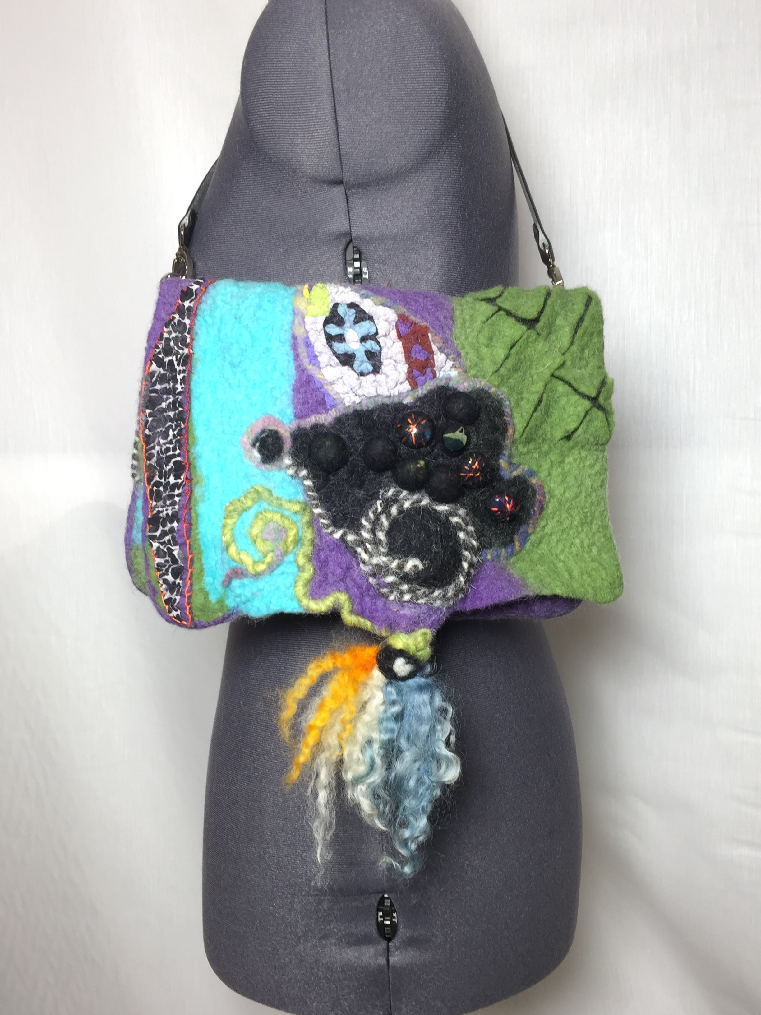 Wet- felted bag