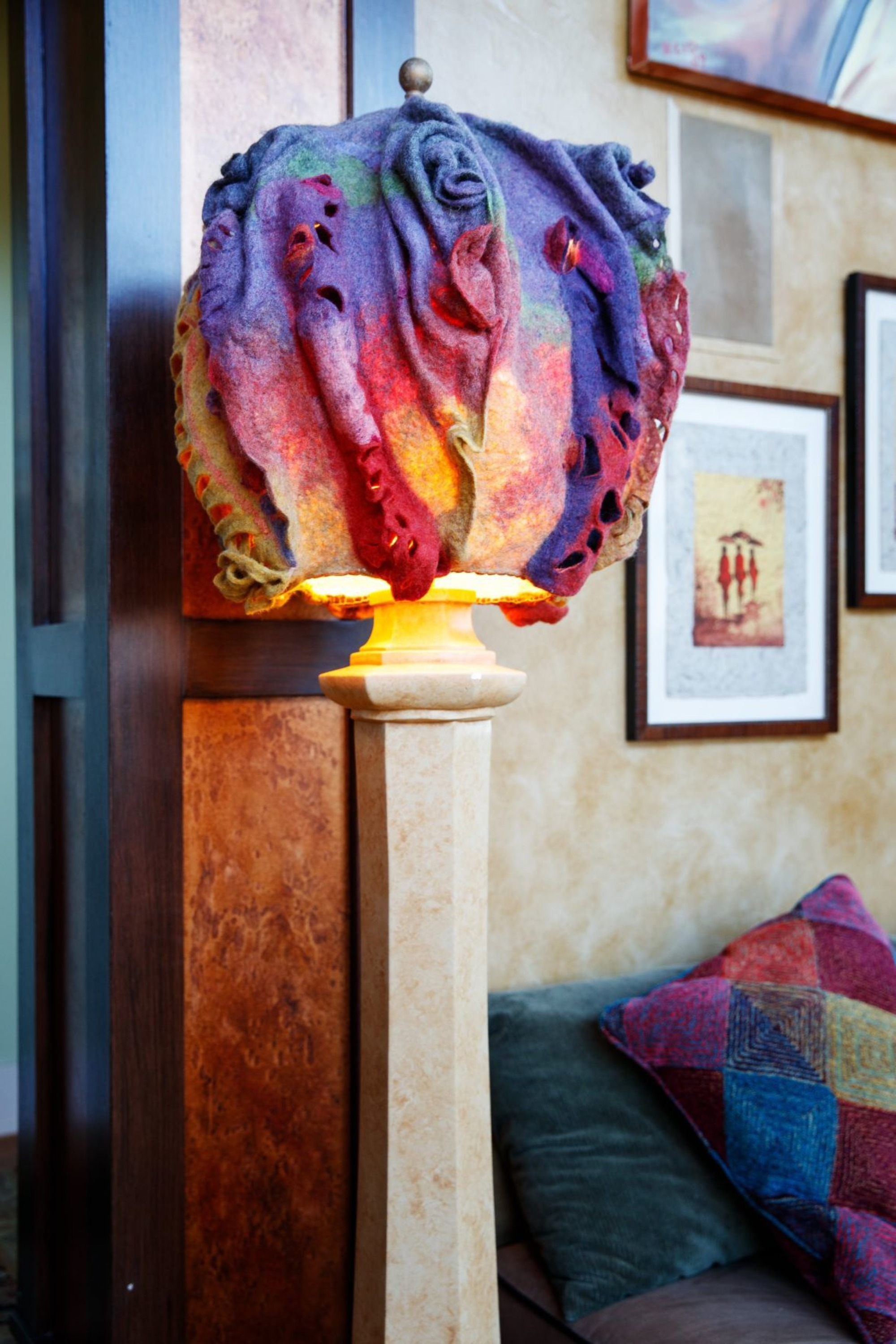 fiber Art lampshade