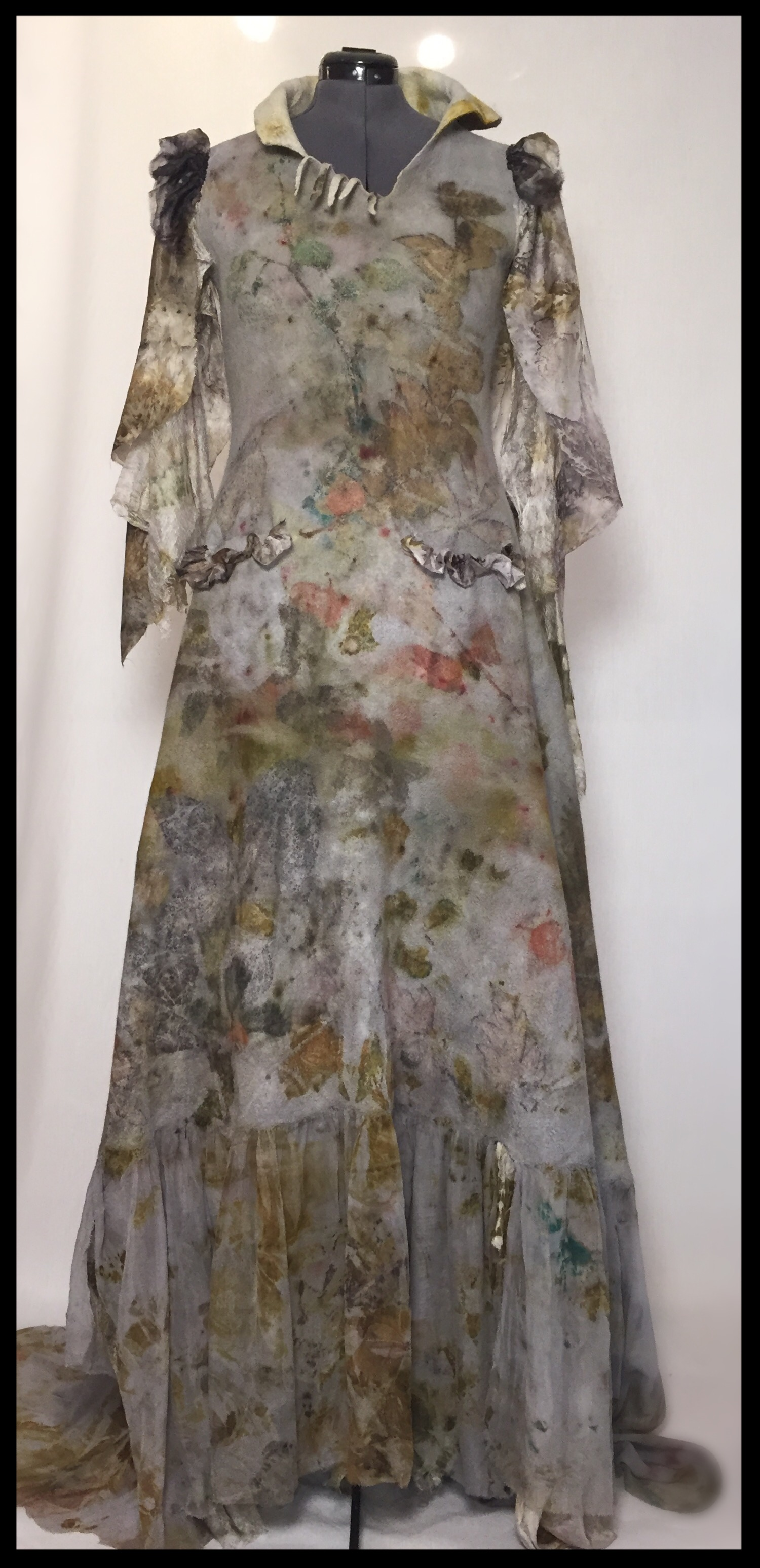 Ecoprinted Dress (Front) - 001
