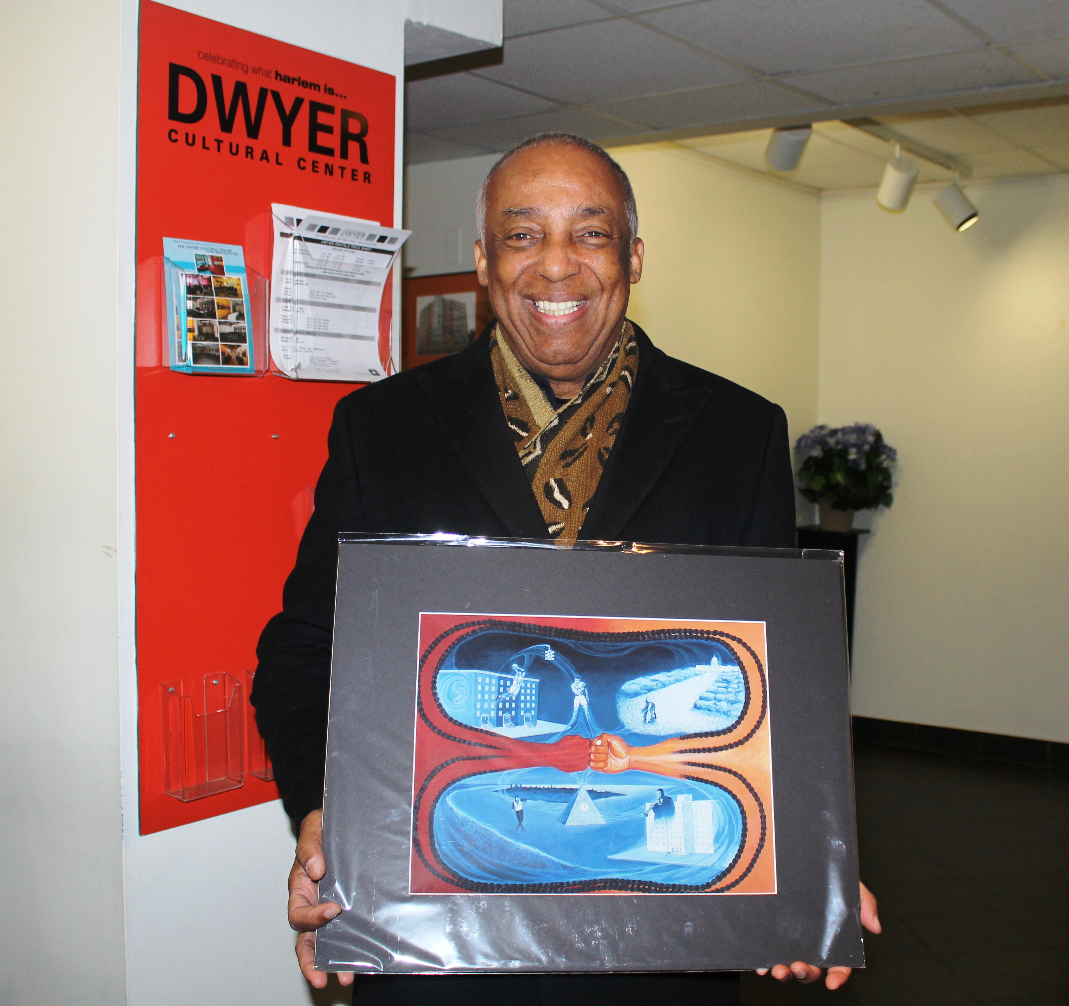 Charles Barron with Markman art