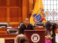 Markman at City Hall in Jersey City