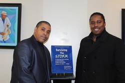 with book collaborator Greg Charles