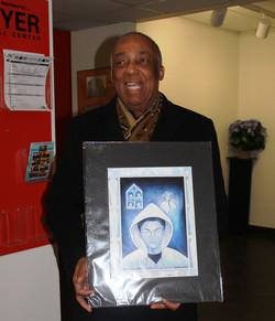 Assemblyman Charles Barron with art