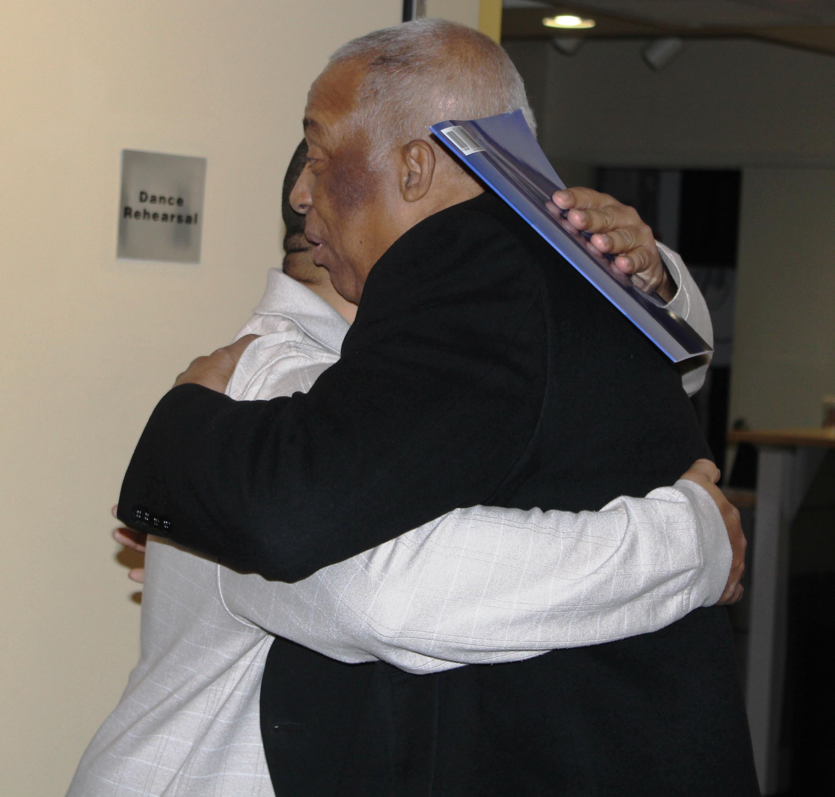 Charles Barron greets Michael