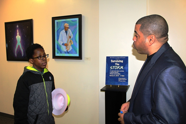 Michael motivates young artist