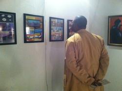 Guest views Markman artwork