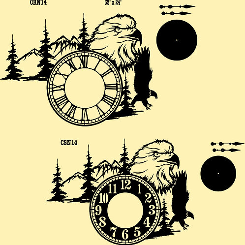 Nature Scene Wall Clocks