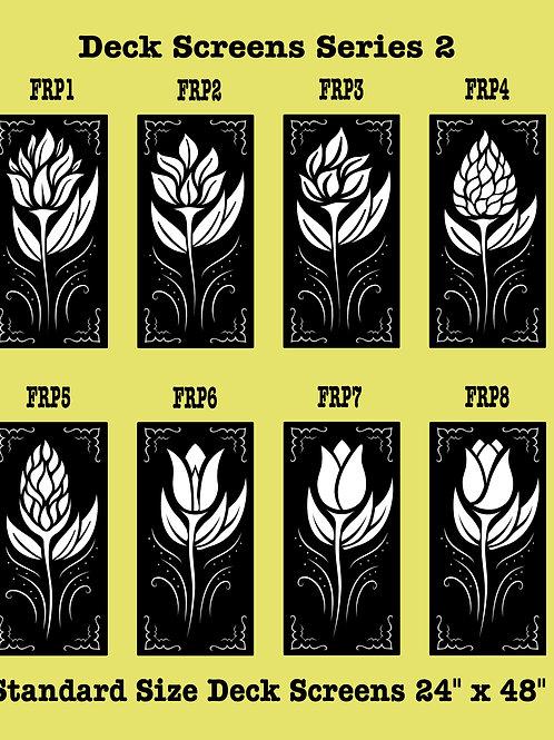 Metal Floral Deck Screens Series 2
