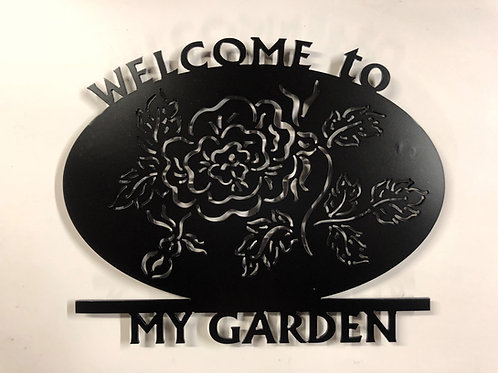 Welcome To My Garden Oval