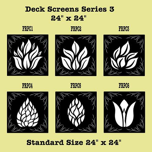 Railing Inserts Or Deck Screens Series 3