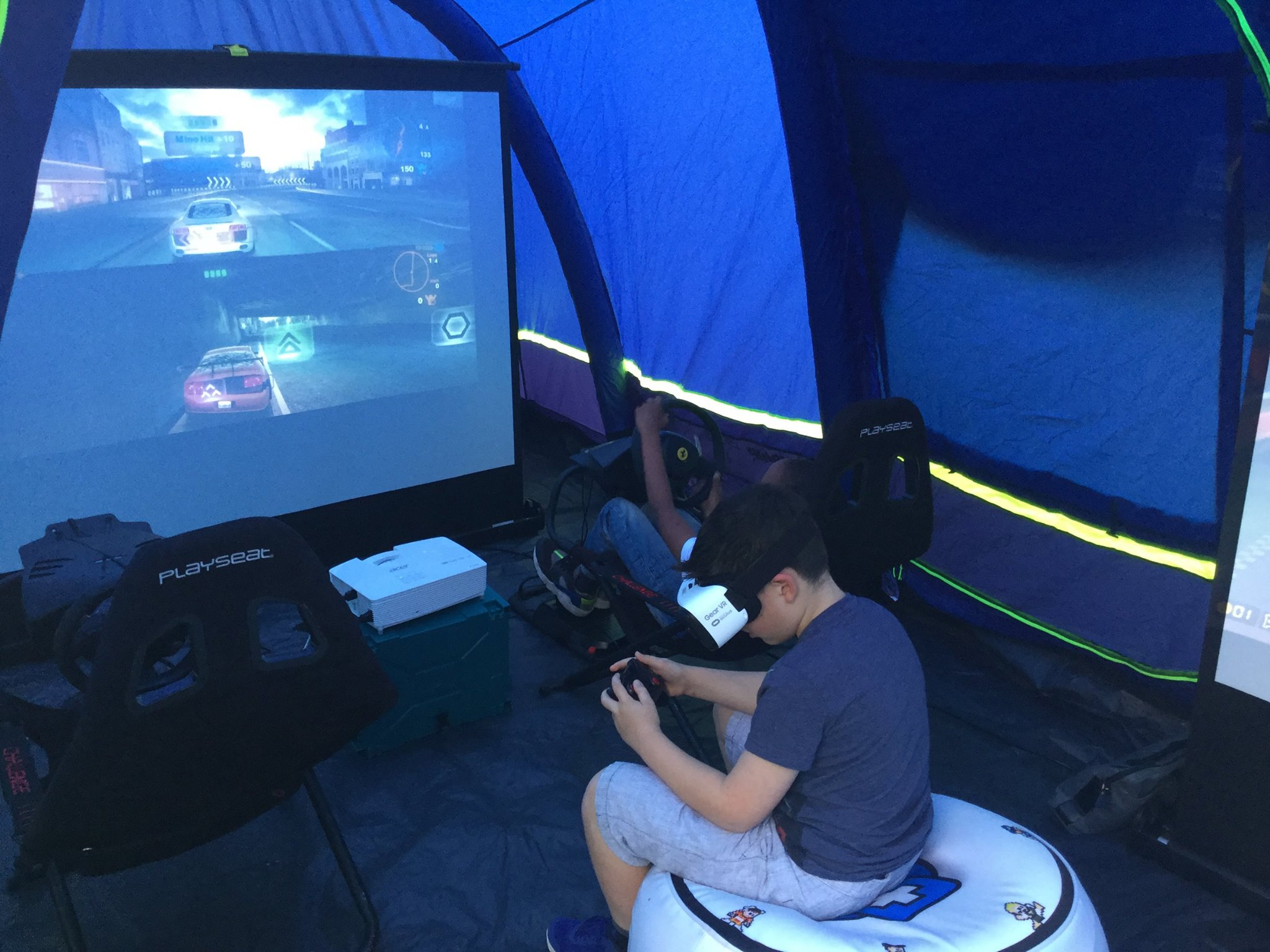 Pop Up Arcade's Gaming Tent