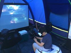 Pop Up Arcade's Gaming Tent