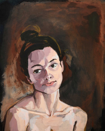 "Untitled Portrait 1. Acrylic on panel, 20""x16"""