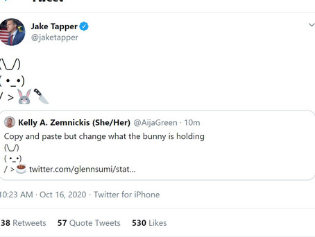 Jake Tapper and His Murderous Bunny Foo Foo!
