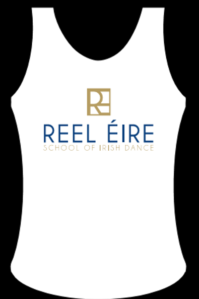 WHITE VEST WITH PRINTED LOGO