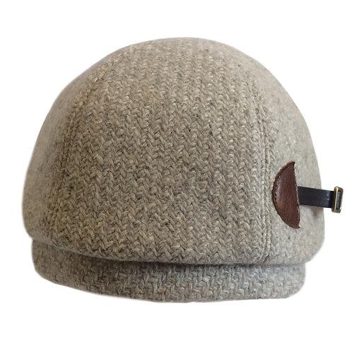 Cashmere Buckle Beret ---Light Grey
