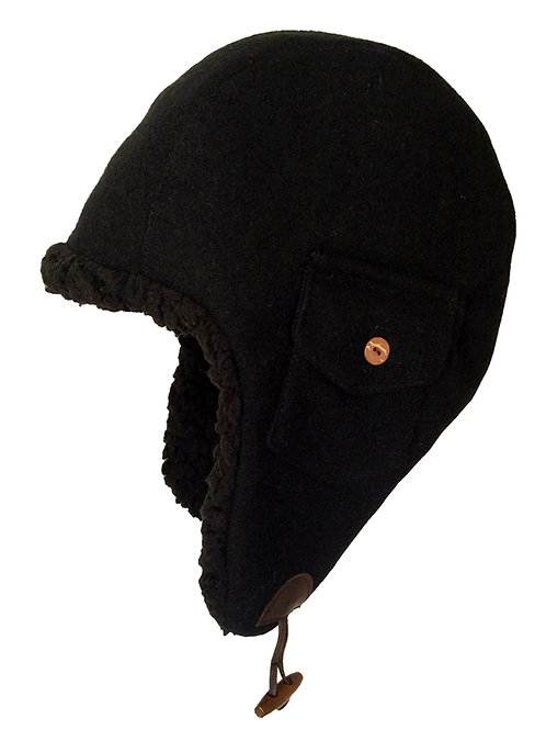 Aviator Flap ---Black