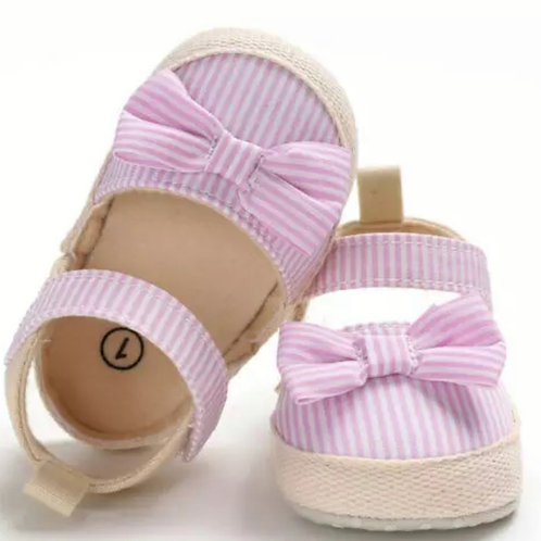Pink Striped Soft Sole Shoe