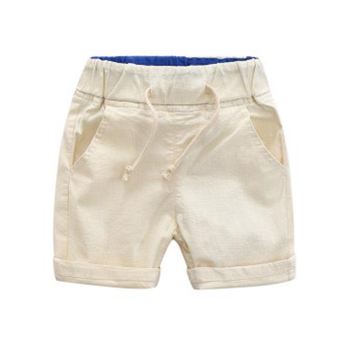Boys Cotton & Linen Shorts (Sand)
