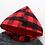 Thumbnail: Boys Set. Red & Black Squares. Pure Cotton