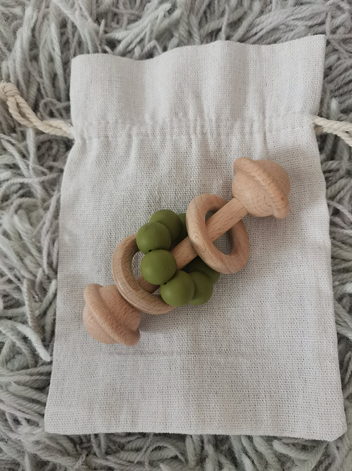 Wooden Rattle Teether