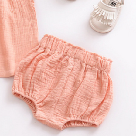 Baby Shorts - Pink. Cotton. (Shoes not included)