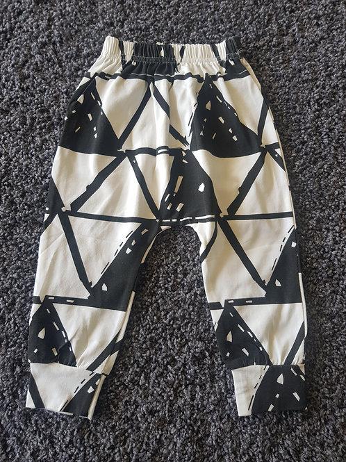 Baby Boys Geometric Pattern Harem Pants