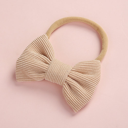 Nude Stretchy Bow