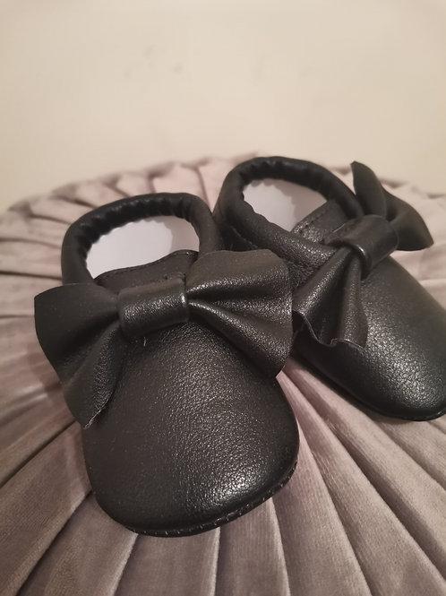 Black Moccasin Shoes