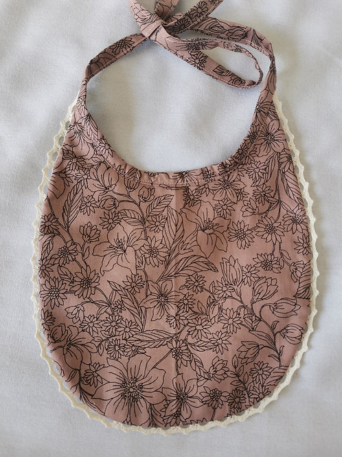100% cotton Floral Bib