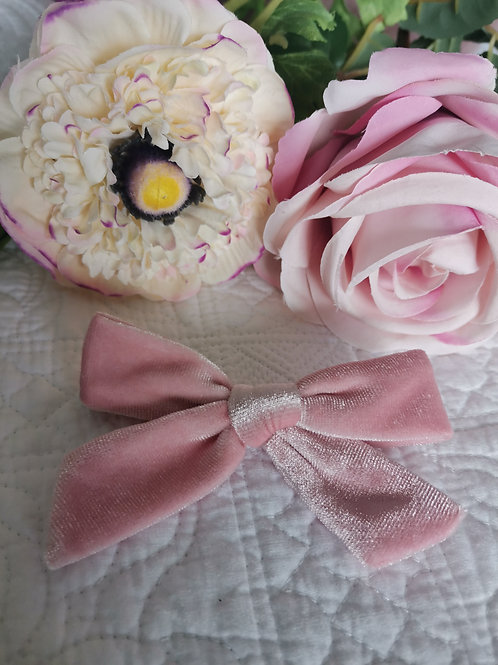 Pink Bow with Hair Clip