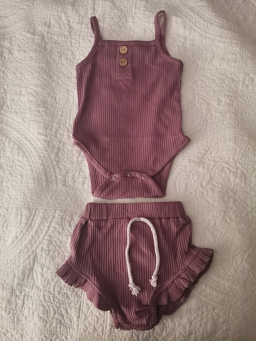 Plum Girls Two Piece Set