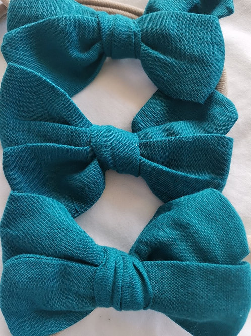 100% cotton bow (Teal)